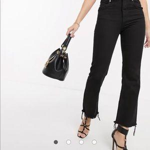 ASOS Frayed Hem Black Jeans 👖